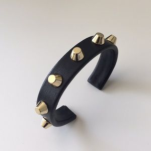 C.wonder leather and stud cuff